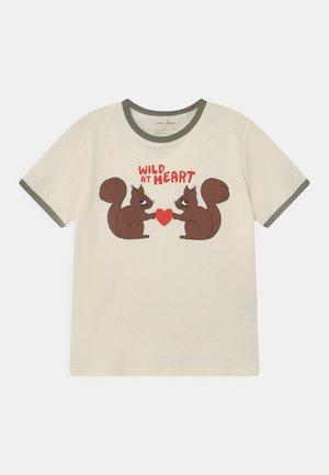 WILD AT HEART TEE UNISEX - T-shirt imprimé - offwhite