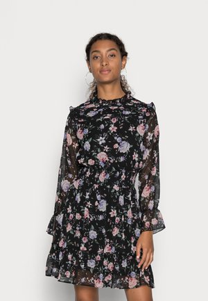 ONLSKYE SMOCK DRESS - Vapaa-ajan mekko - black/rose