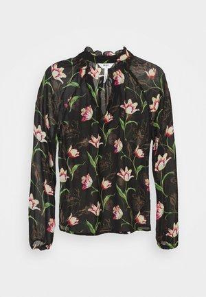 OBJTULIPA BLOUSE - Long sleeved top - black/tulip