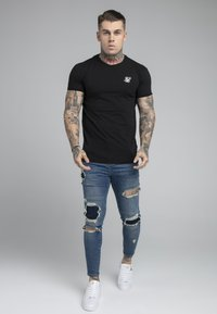 SIKSILK - DISTRESSED PATCH - Jeans Skinny Fit - midstone - 1