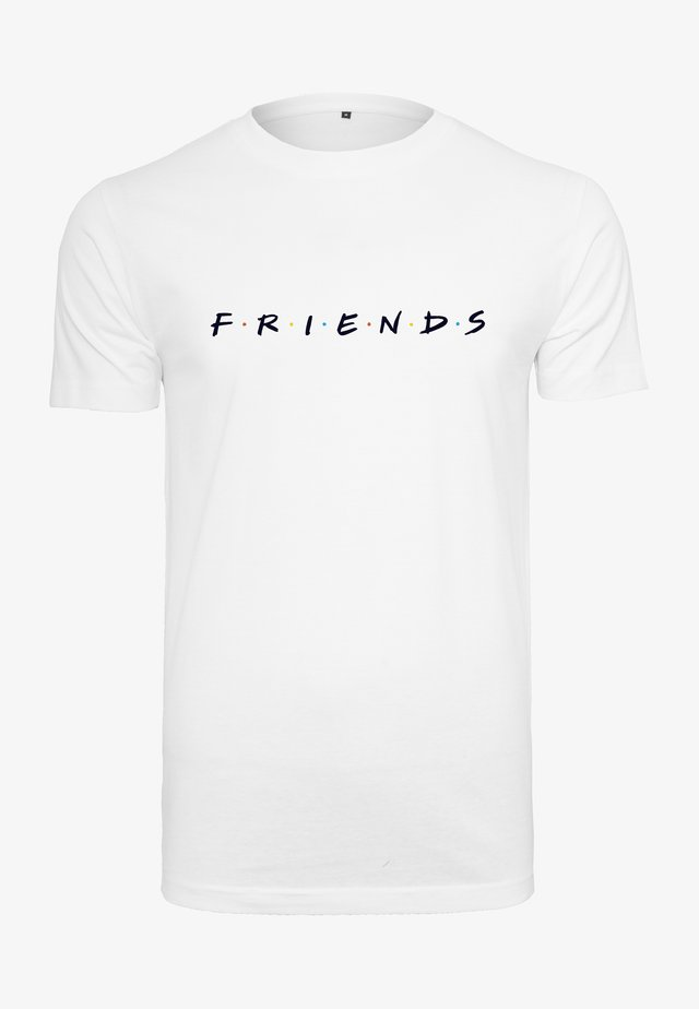 HERREN FRIENDS LOGO EMB TEE - Print T-shirt - white