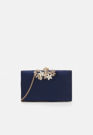 AMY EMBELLISHED CLASP - Clutch - navy