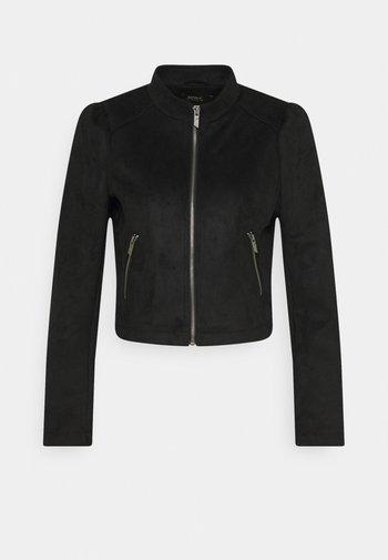 ONLSHELBY CROP BONDED JACKET  - Veste en similicuir - black