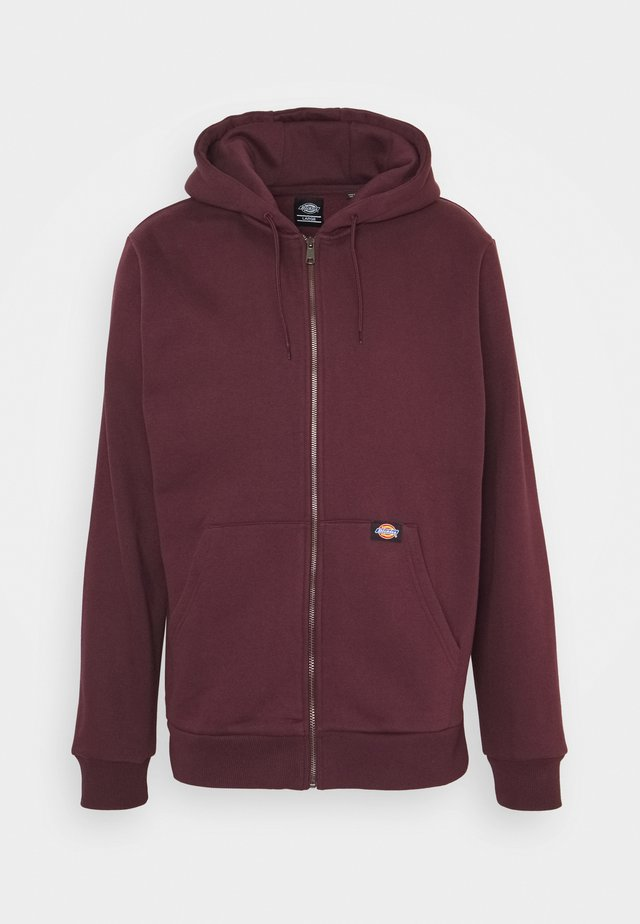 NEW KINGSLEY - Zip-up hoodie - maroon