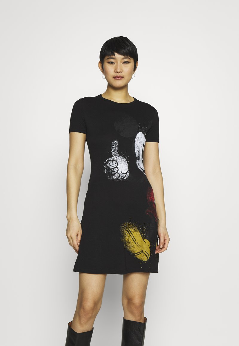 Desigual - MICKEY - Jersey dress - black
