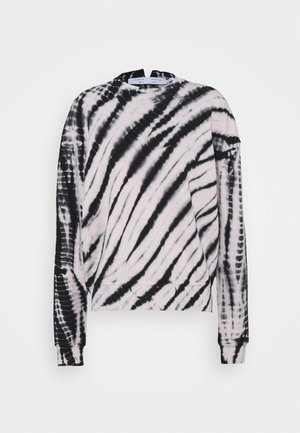 MODIFIED RAGLAN TIE DYE - Collegepaita - black/off-white