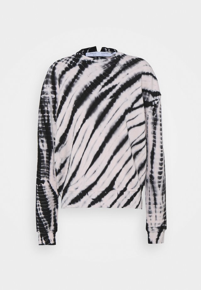 MODIFIED RAGLAN TIE DYE - Sweatshirt - black/off-white
