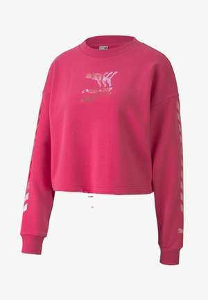 EVIDE CREW - Sweatshirt - glowing pink