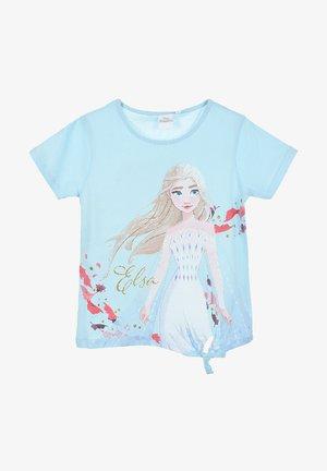 Print T-shirt - hell-blau