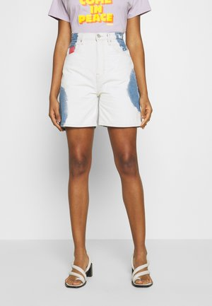 MOM SHORT  - Denim shorts - cloudy light blue rigid