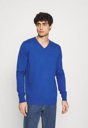 BASIC VNECK - Jumper - bright blue melange