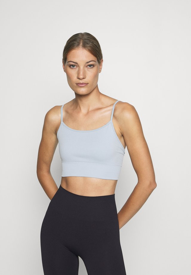 YOGA BRA - Sports bra - blue dusty light