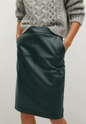 PENCIL - Pencil skirt - donkergroen