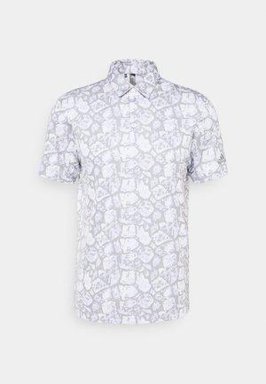 COBBLESTONE PRINT - Poloshirt - violet tone/white/grey three