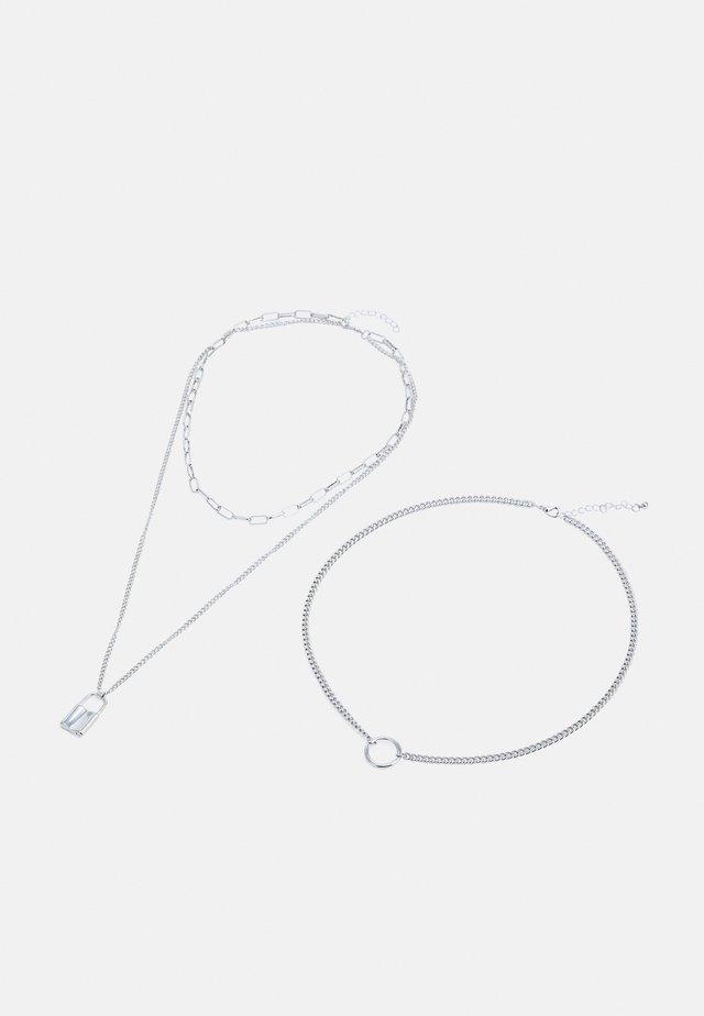 ONLJILL NECKLACES 2 PACK - Smykke - silver-coloured