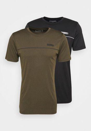 JCOZSS PERFORMANCE TEE 2 PACK - T-shirt med print - black/forest night