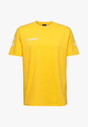 HMLGO - Print T-shirt - sports yellow