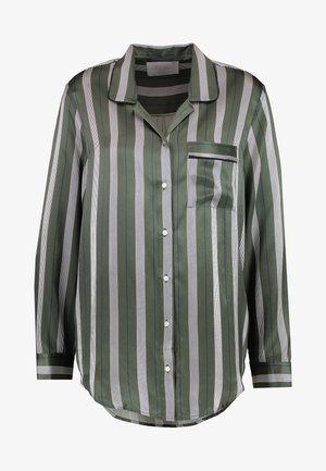 SLEEP - Maglia del pigiama - olive stripe