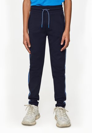 MET TAPEDETAIL - Tracksuit bottoms - dark blue