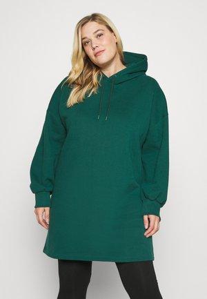 OVERSIZED HOODIE DRESS - Jumper dress - green