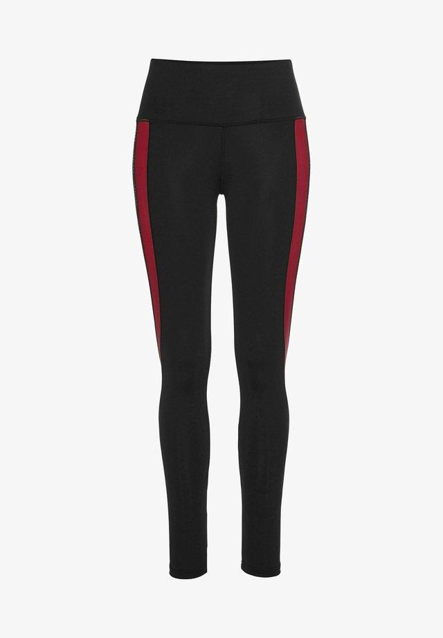 Leggings - schwarz-rot