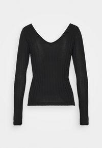 Vero Moda - VMJOSEPHINE VNECK - T-shirt à manches longues - black - 1