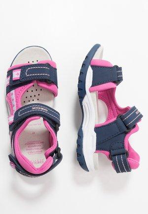 BOREALIS GIRL - Walking sandals - navy/fuchsia