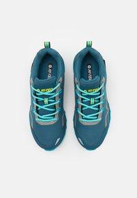 Hi-Tec - STINGER WP WOMENS - Hiking shoes - lake blue/light sapphire/yellow/silver - 3