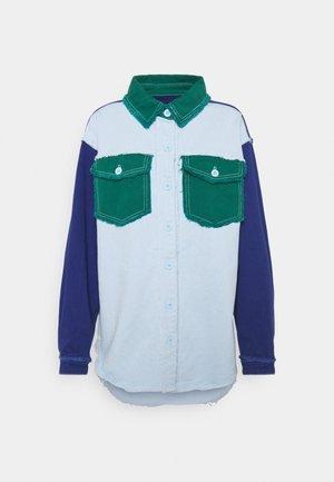 FRAYED COLOURBLOCK  - Skjorte - green