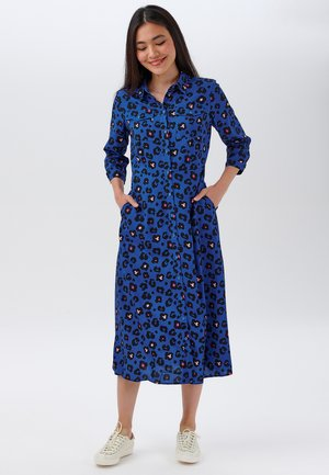 PAOLA - Shirt dress - blue