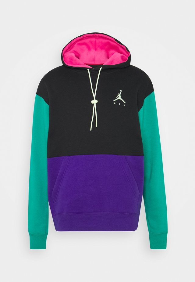 JUMPMAN AIR - Sweat à capuche - black/court purple/neptune green