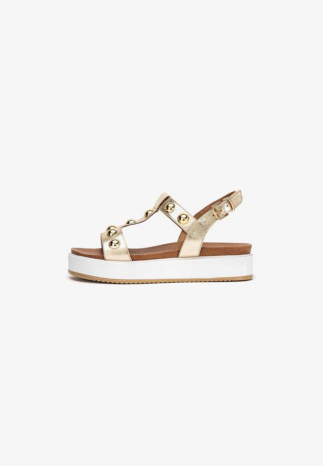 Sandales compensées - gold gld
