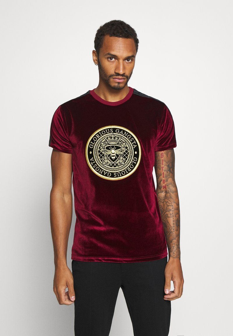 Glorious Gangsta - MARENO - Print T-shirt - burgundy