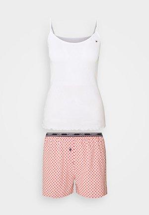 CAMI SHORT POINTELLE SET - Pyjama - white/primary red