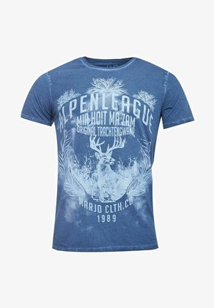 TRACHTEN ALPENLEAGUE IN VON TRACH - Print T-shirt - blau