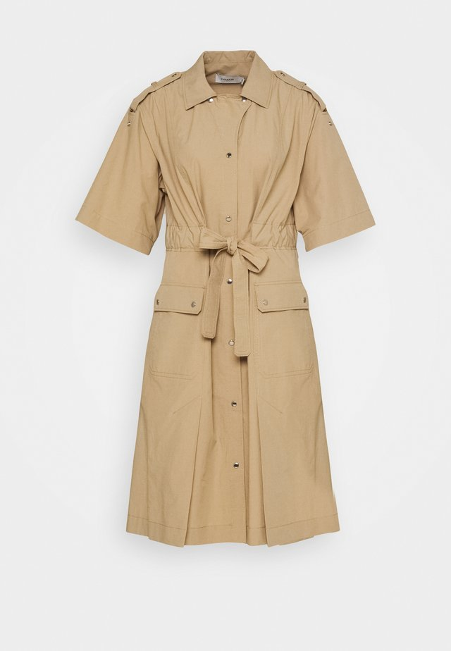 TIE WAIST  - Shirt dress - khaki