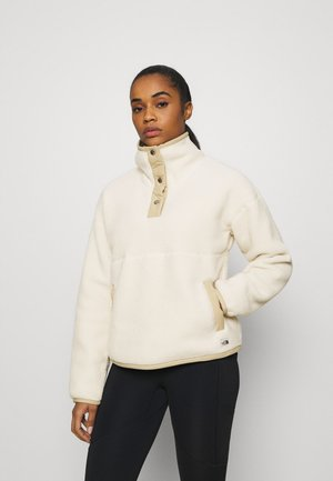 CRAGMONT 1/4 SNAP - Fleece jumper - bleached sand