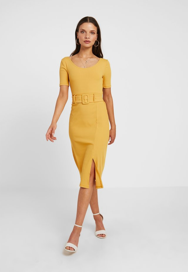 MADISON - Jersey dress - yellow