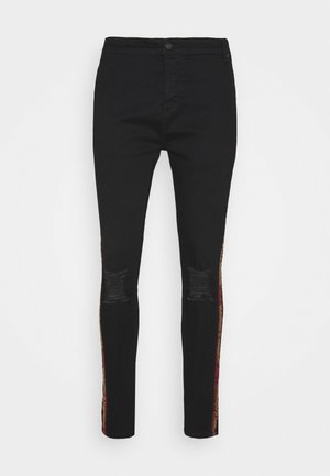 BURST KNEE - Skinny džíny - black
