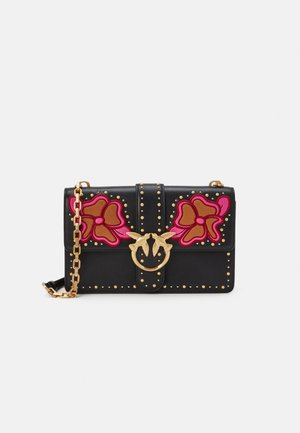 LOVE CLASSIC ICON BLOOMING - Sac bandoulière - black/ciclamino/bubble pink