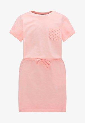 Žerzejové šaty - bright pink