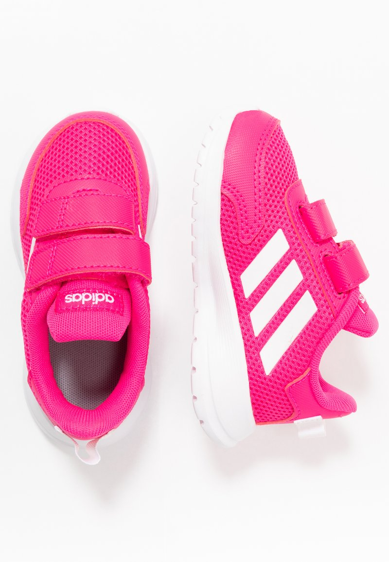 adidas Performance - TENSAUR RUN UNISEX - Zapatillas de running neutras - shock pink/footwear white/shock red