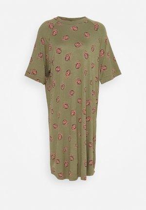 RIKA DRESS - Vestito di maglina - khaki/green