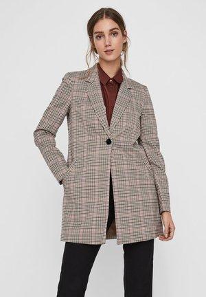 KARIERTE ÜBERGANGS - Short coat - black