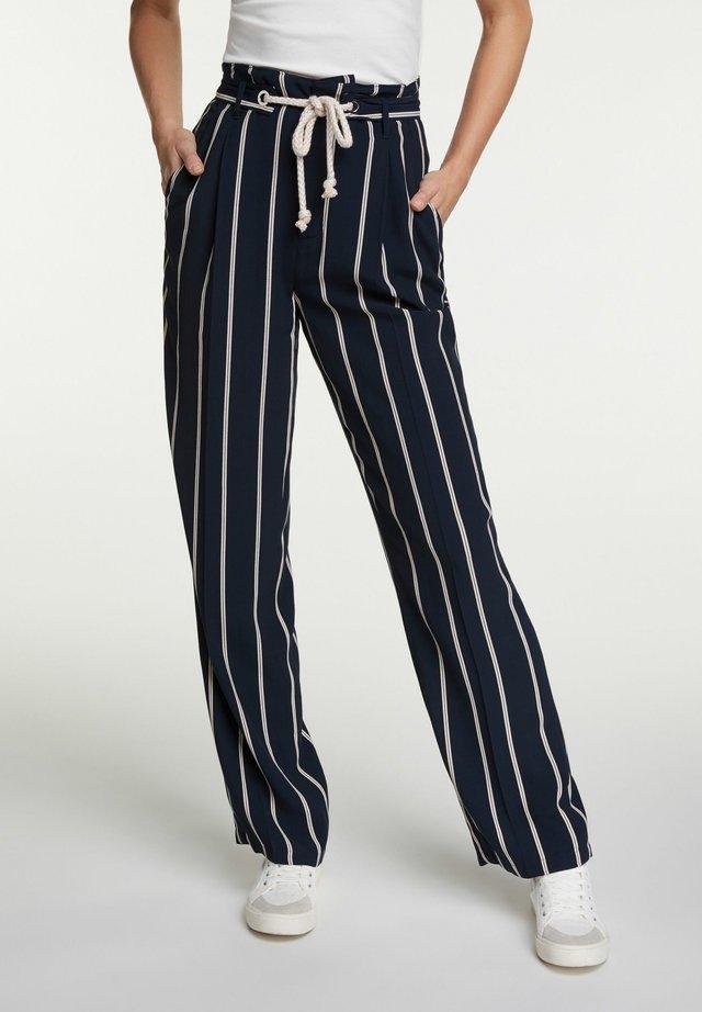 Trousers - dark blue white