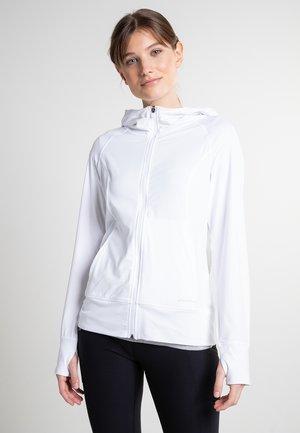 MIT KAPUZE - Soft shell jacket - weiß