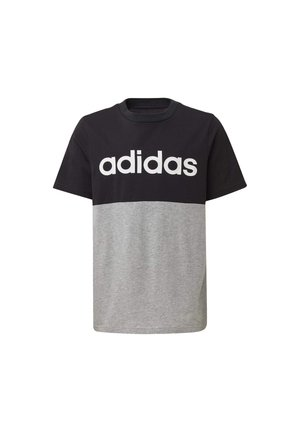 LINEAR COLORBLOCK T-SHIRT - Print T-shirt - black