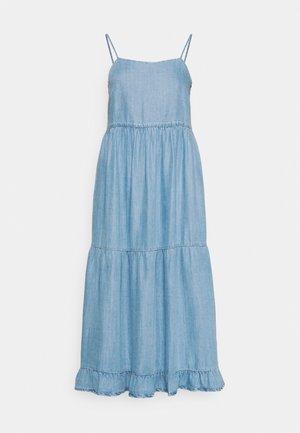 ONLRAGNA STRAP LONG DRESS - Denim dress - light blue denim