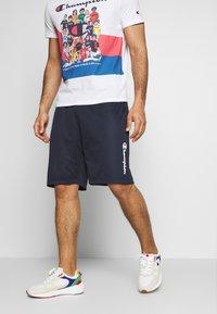 Champion - ROCHESTER ATHLEISURE - Pantalón corto de deporte - dark blue - 0