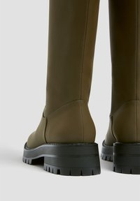 PULL&BEAR - Platform boots - khaki - 4